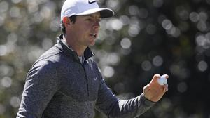 Rory McIlroy, pictured, was trying to reel in Jordan Spieth (AP)
