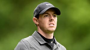 Rory McIlroy, pictured, was trying to reel in Jordan Spieth