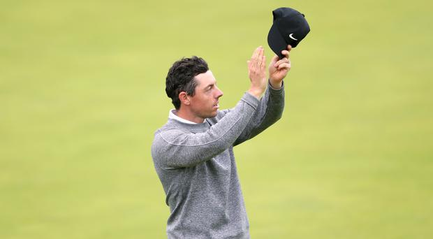 Northern Ireland's Rory McIlroy was dejected (David Davies/PA)