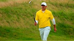 Impatient: Brooks Koepka finished tied for fourth