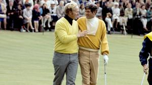 Doug Sanders, right, lost out to Jack Nicklaus at The Open in 1970 (PA)