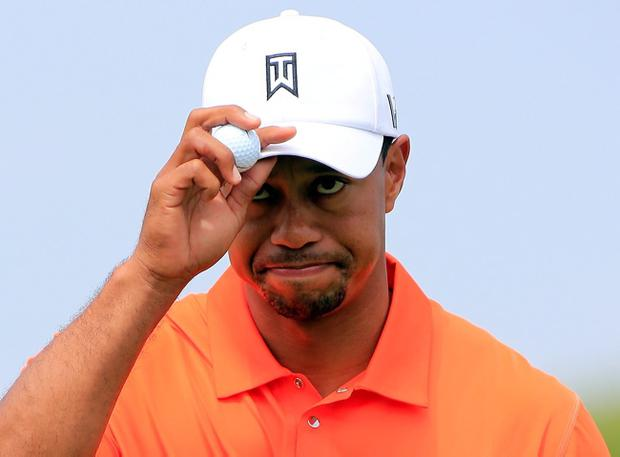 ORLANDO, FL - MARCH 22: Tiger Woods reacts to an eagle putt on the 6th hole during the second round of the Arnold Palmer Invitational presented by MasterCard at the Bay Hill Club and Lodge on March 22, 2013 in Orlando, Florida. (Photo by Sam Greenwood/Getty Images)