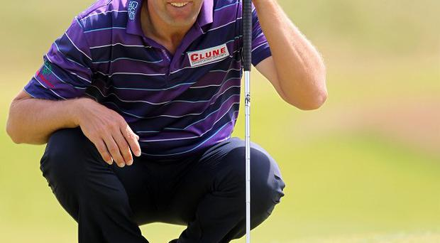 Padraig Harrington used a long putter at the Wells Fargo Championship