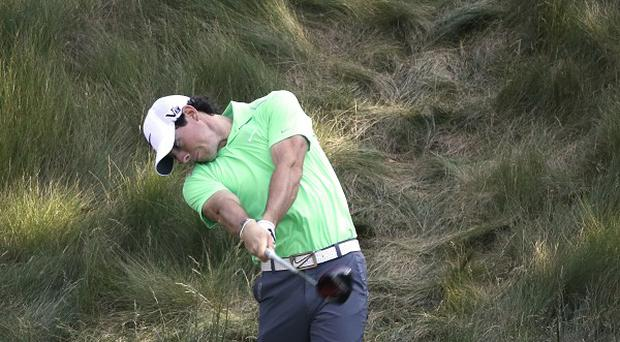 Rory McIlroy practices ahead of the US Open (AP)
