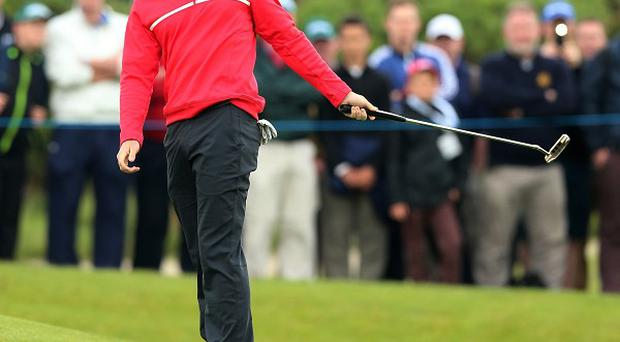 Rory McIlroy dropped two shots in his first three holes in the Irish Open