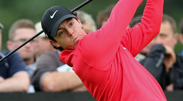 Rory McIlroy is eight shots off the lead after the first round of the Irish Open