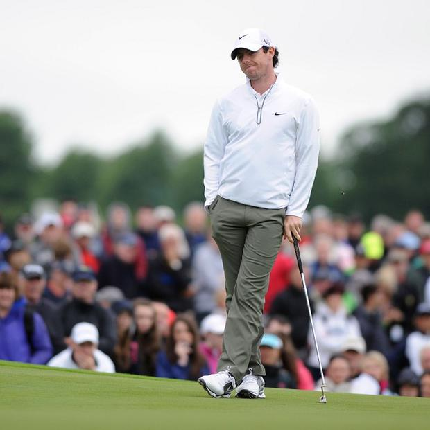 Rory McIlroy endured more frustration in the Irish Open