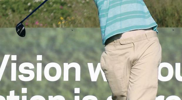Dermot McElroy, in action in the North of Ireland Championship at Royal Portrush
