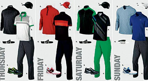 Rory McIlroy will be supporting looks from Nikes 'Fall 2013 Tour Performance' collection
