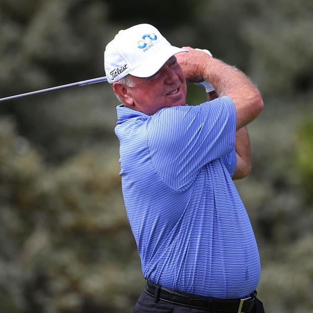 Former Open champion Mark O'Meara was out at 7.05am and began with two pars