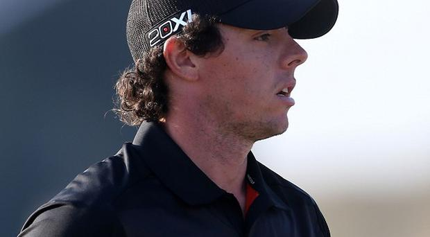 Rory McIlroy showed signs of a return to form with four birdies from the last seven holes