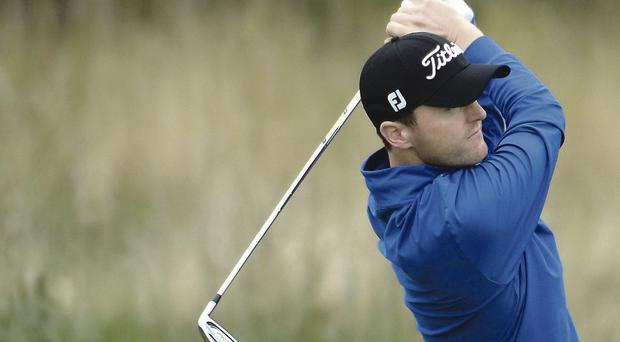 Striking display: Michael Hoey on his way to a four under 68 at Johnnie Walker Championship at Gleneagles