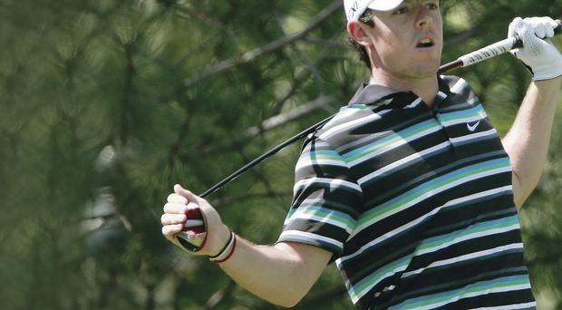 Tough day: Rory McIlroy struggles with his game, yet again