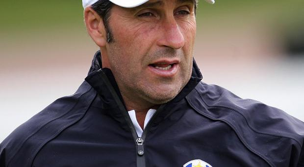 Jose Maria Olazabal's side have opened up a two-point lead