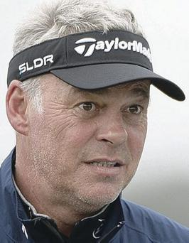 Second best: Darren Clarke had to settle for a runner-up spot