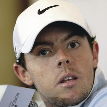 Public appearance: Rory McIlroy faces the media in Seoul, South Korea ahead of his return to action in the Korea Open