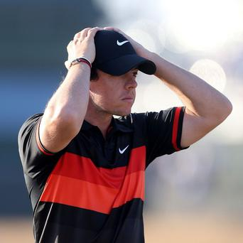 Rory McIlroy carded a disappointing third-round 75