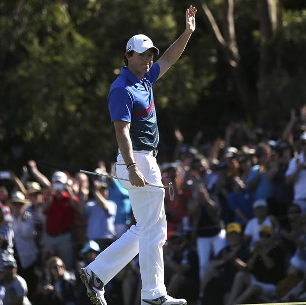 Rory McIlroy won by one shot in Sydney (AP)