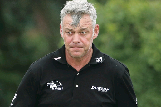 Darren Clarke's five over par 77 undid much of his good work from the opening three days