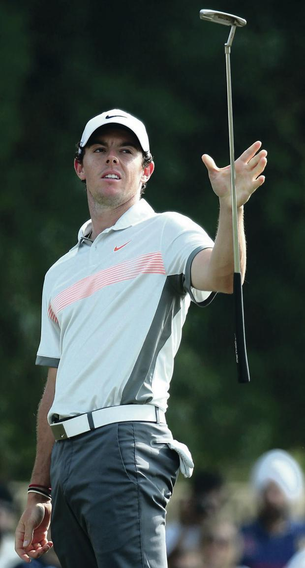 Familiar territory: Rory McIlroy won his first title in Dubai in 2009