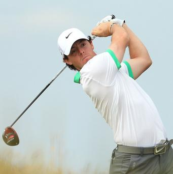 Rory McIlroy led the way at the halfway stage of the Honda Classic