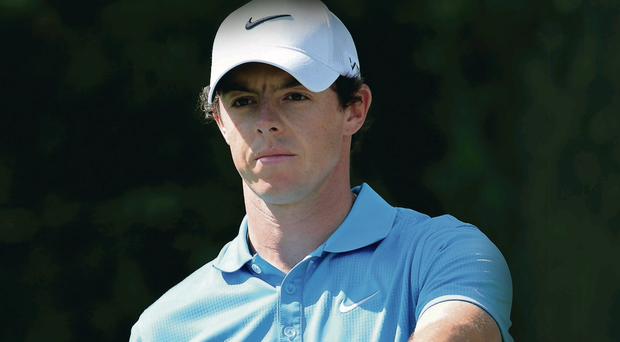 Rory McIlroy during last night's final round of the Honda Classic in Florida