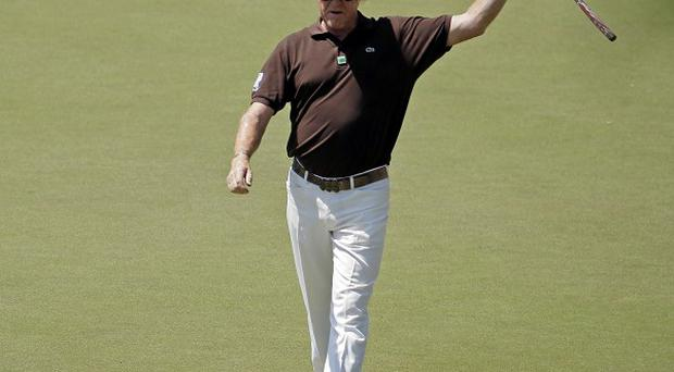 Miguel Angel Jimenez carded a superb 66 at Augusta (AP)