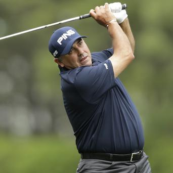 Angel Cabrera, pictured, shares the lead but Brendon de Jonge took the plaudits on day two (AP)