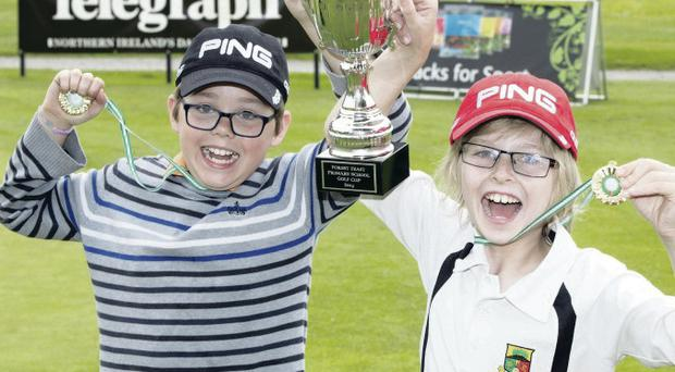 The roll of honour includes Toby Sloane (left) and Charlie Parke of Orangefield PS