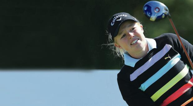 Rising star: Stephanie Meadow has been handed an invite to the Women's PGA