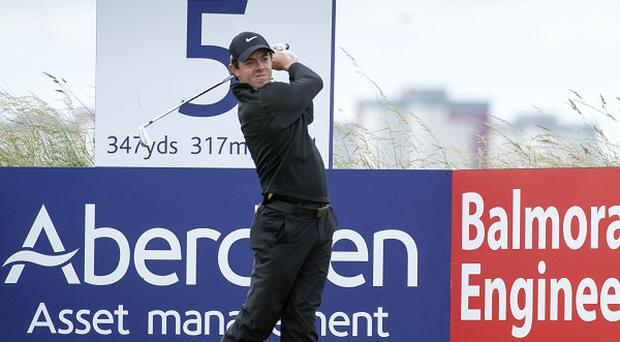 Rory McIlroy carded a course-record 64 at Royal Aberdeen
