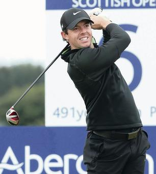 ABERDEEN, SCOTLAND - JULY 10: Rory McIlroy of Northern Ireland hits his tee-shot on the sixth hole during the first round of the Aberdeen Asset Management Scottish Open at Royal Aberdeen on July 10, 2014 in Aberdeen, Scotland. (Photo by Andrew Redington/Getty Images)