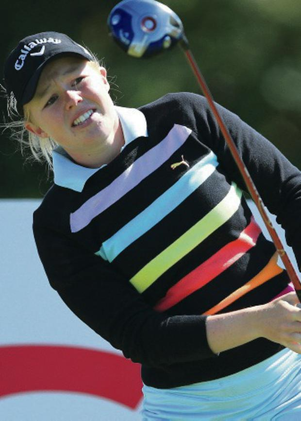 On course: Stephanie Meadow is closing in on a place on the LPGA Tour in the United States