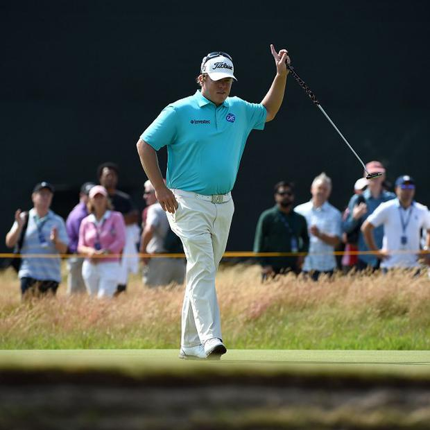 George Coetzee carded a second-round 69 at Hoylake