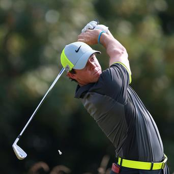 Rory McIlroy leads the Open Championship by four shots at the halfway stage