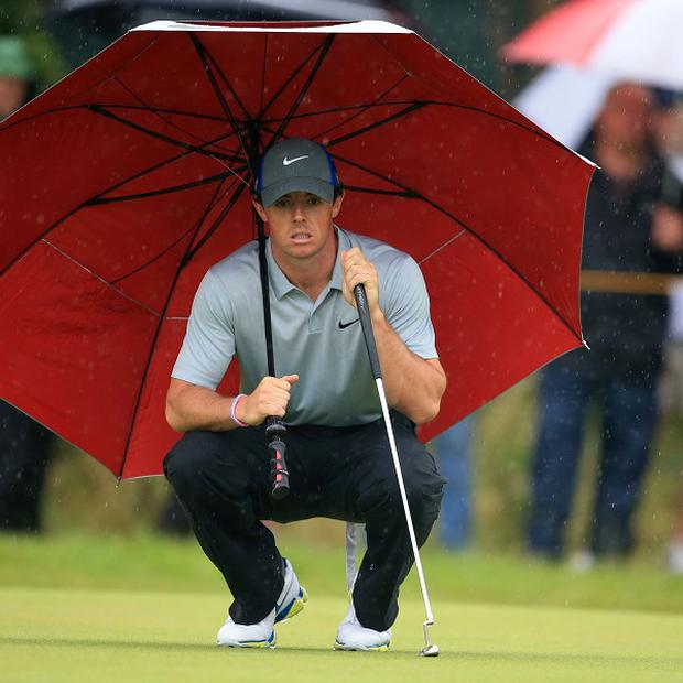 Rory McIlroy was pleased he avoided the worst of the weather on Saturday