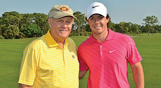 Two of a kind? Jack Nicklaus believes Rory McIlroy can go on to become one of golf's greatest-ever players