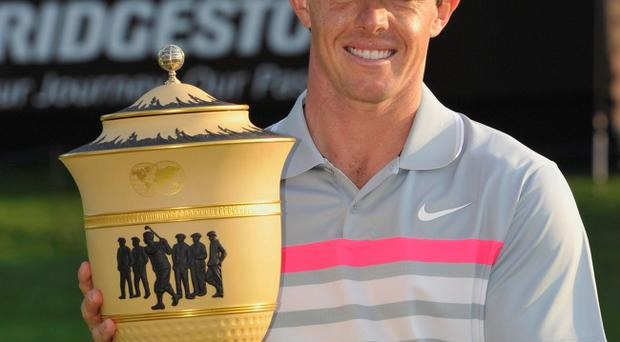 Red-hot form: Rory McIlroy is favourite to clinch US PGA success this weekend after his impressive win in Ohio