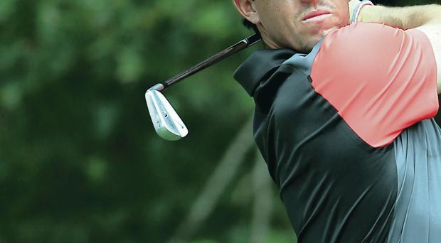 Full throttle: Rory McIlroy fights back to put himself in contention for USPGA glory on Sunday