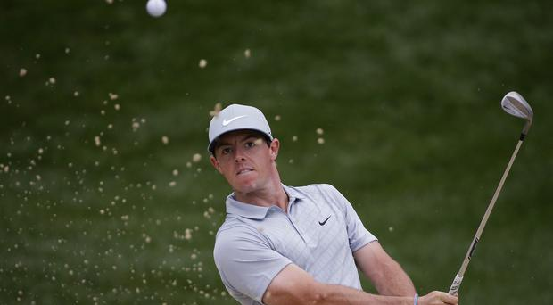 At four under par Rory McIlroy was three shots off the lead (AP)
