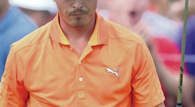 Surprised: Rickie Fowler didn't expect to wait at the last hole