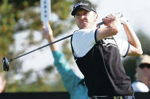 Warming up: Ulsterman Michael Hoey enjoys the Open Pro-Am Challenge day yesterday