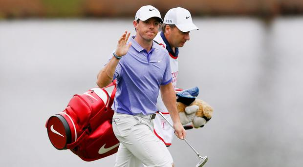 Rory McIlroy with his caddie JP Fitzgerald
