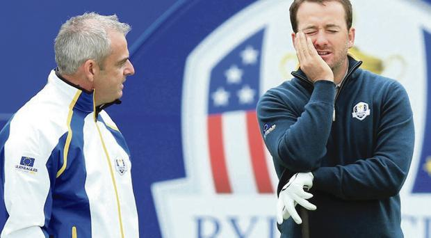 Europe Ryder Cup captain Paul McGinley and Graeme McDowell