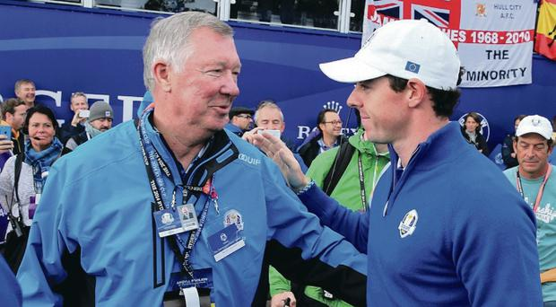 Rory McIlroy spoke in awe of listening to the wise words of Sir Alex Ferguson