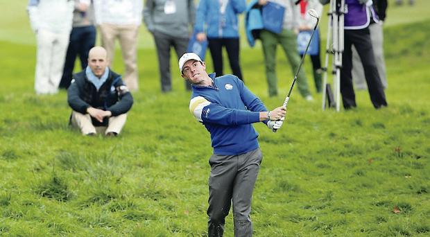 Looking forward: Rory McIlroy wants to get closer to America in terms of the number of Ryder Cups won, which stands at 25-12