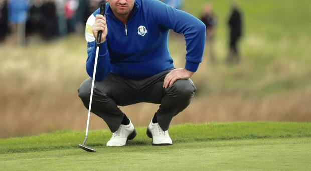 Big Mac: Graeme McDowell was crucial to Europe's victory over the Americans, with a fine display of golf on the final day