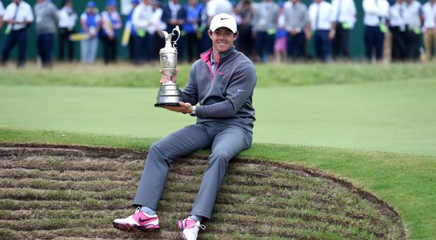 Open glory: Rory McIlroy pictured after his brilliant Open win that helped him towards Race To Dubai money list win