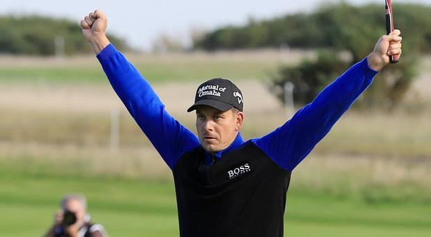 Henrik Stenson shared the lead with a round to go