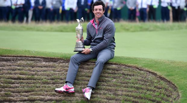 Rory McIlroy's Open triumph was one of four wins in 2014